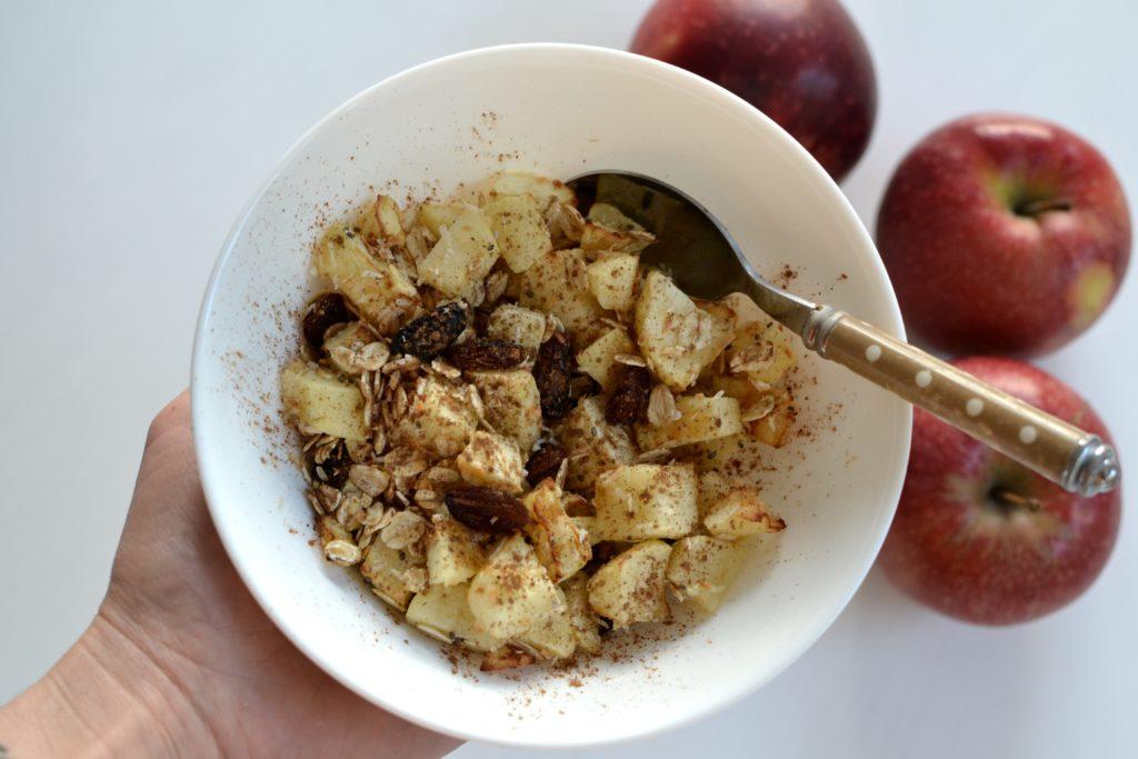 Jabłkowe crumble z beztłuszczowej frytkownicy
