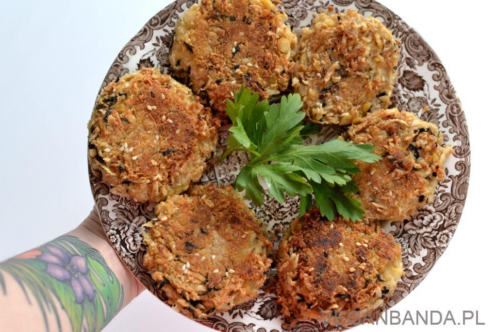 wegańskie fish burgery